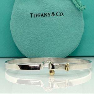 Tiffany Co Hook Eye Bangle Bracelet Silver Gold